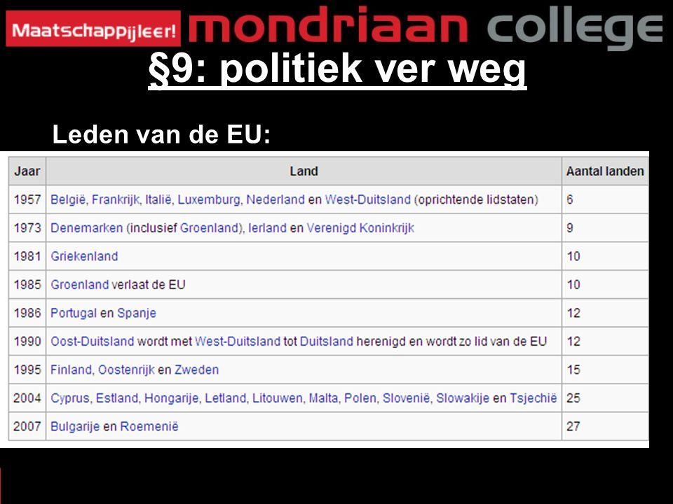 Leden van de EU: §9: politiek ver weg