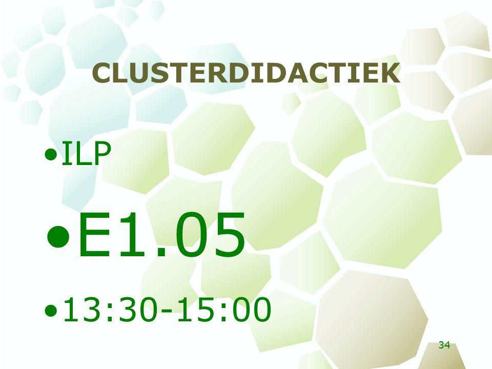 CLUSTERDIDACTIEK ILP E1.05 13:30-15:00 34