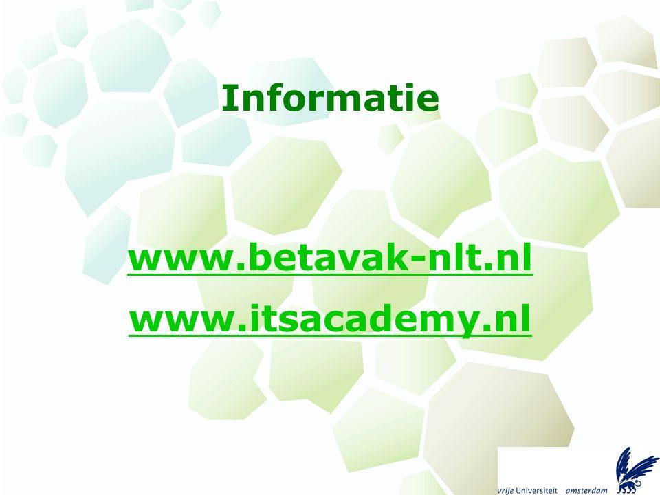 Informatie www.betavak-nlt.nl www.itsacademy.nl