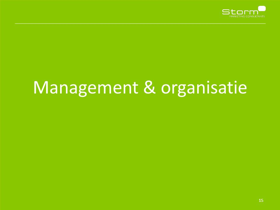 Management & organisatie 15