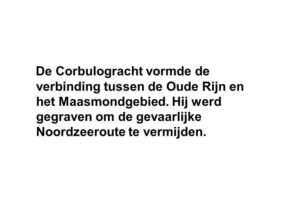 De Corbulogracht vormde de verbinding tussen de Oude Rijn en het Maasmondgebied.