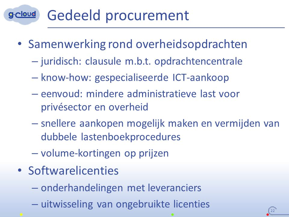 Gedeeld procurement Samenwerking rond overheidsopdrachten – juridisch: clausule m.b.t.