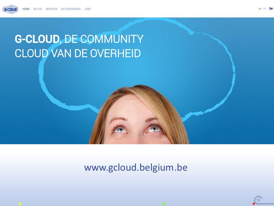 31 www.gcloud.belgium.be