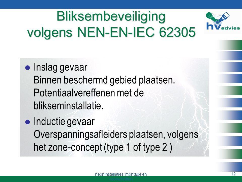 neoninstallaties: montage en voorschriften 11 Afstanden 2 Buisondersteuning Kruipweg D = U in mm.