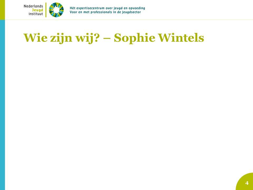 Wie zijn wij? – Sophie Wintels 4