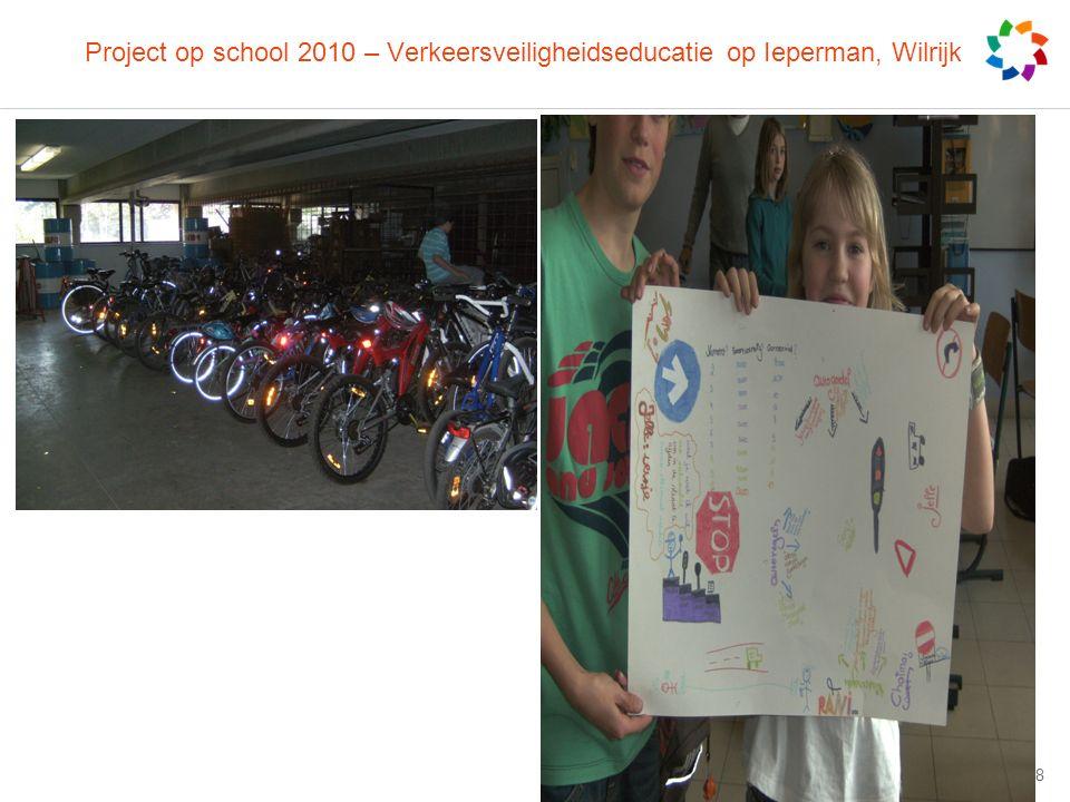 Project op school 2010 – Verkeersveiligheidseducatie op Ieperman, Wilrijk © artesis 2008 | 18