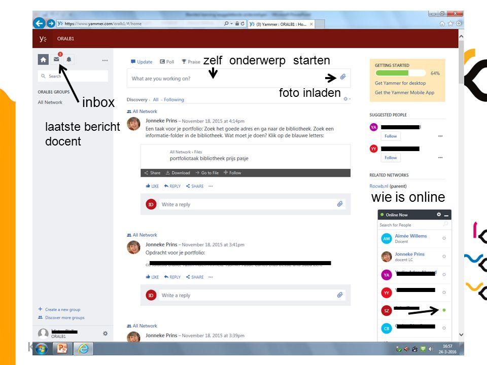 20 laatste bericht docent wie is online zelf onderwerp starten foto inladen inbox