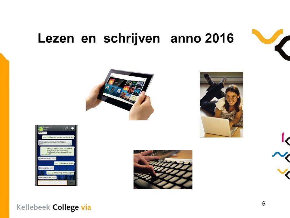 Lezen en schrijven anno 2016 6