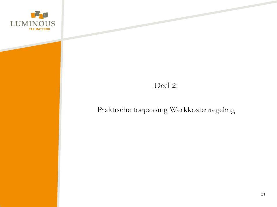 Deel 2: Praktische toepassing Werkkostenregeling 21