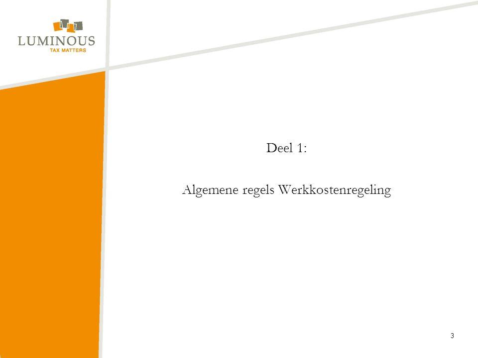 Deel 1: Algemene regels Werkkostenregeling 3