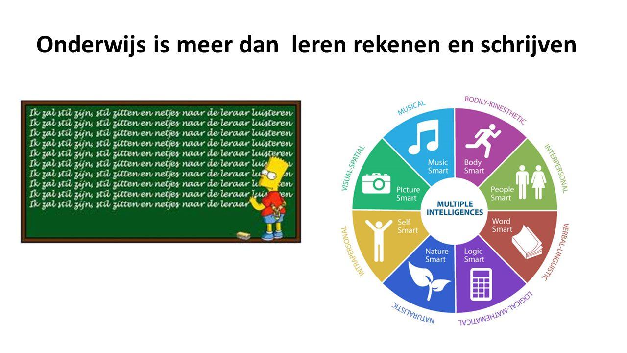 Onderwijs is meer dan leren rekenen en schrijven
