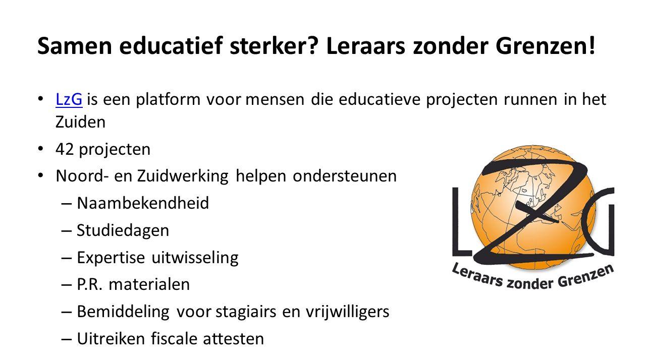 Samen educatief sterker. Leraars zonder Grenzen.