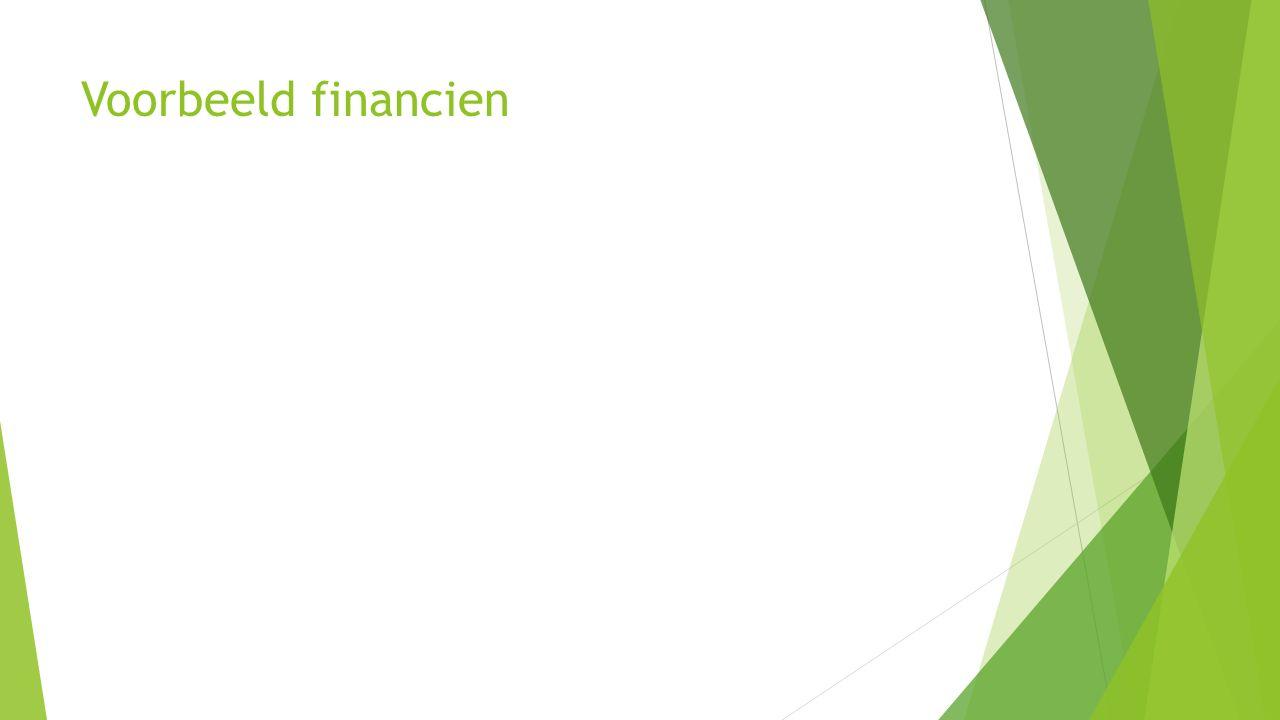 Voorbeeld financien