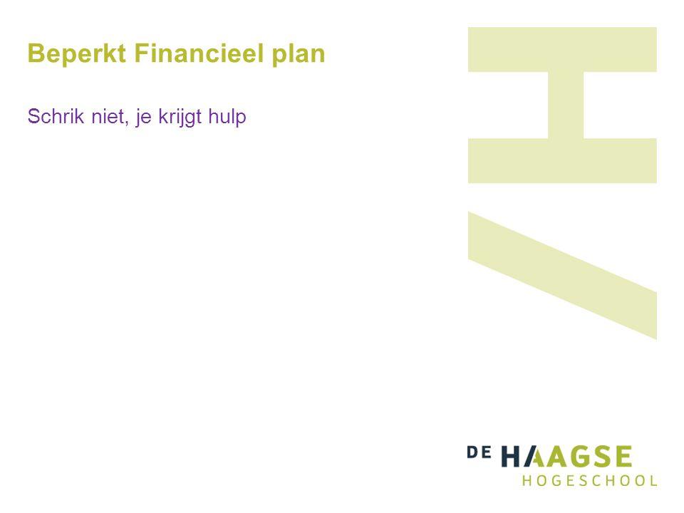 Beperkt Financieel plan Schrik niet, je krijgt hulp