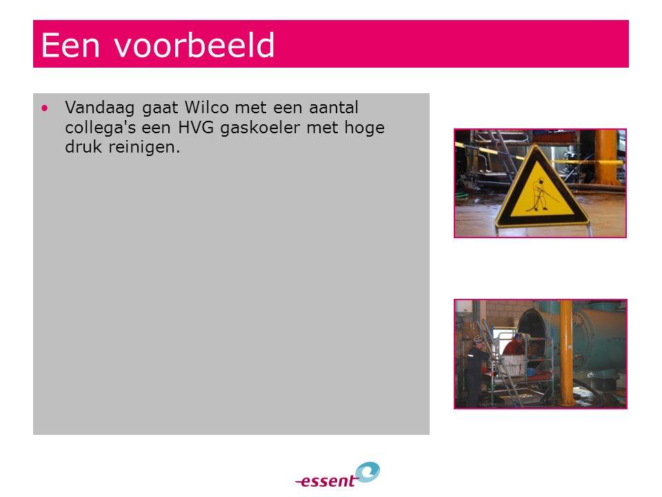 Een voorbeeld Vandaag gaat Wilco met een aantal collega's een HVG gaskoeler met hoge druk reinigen.
