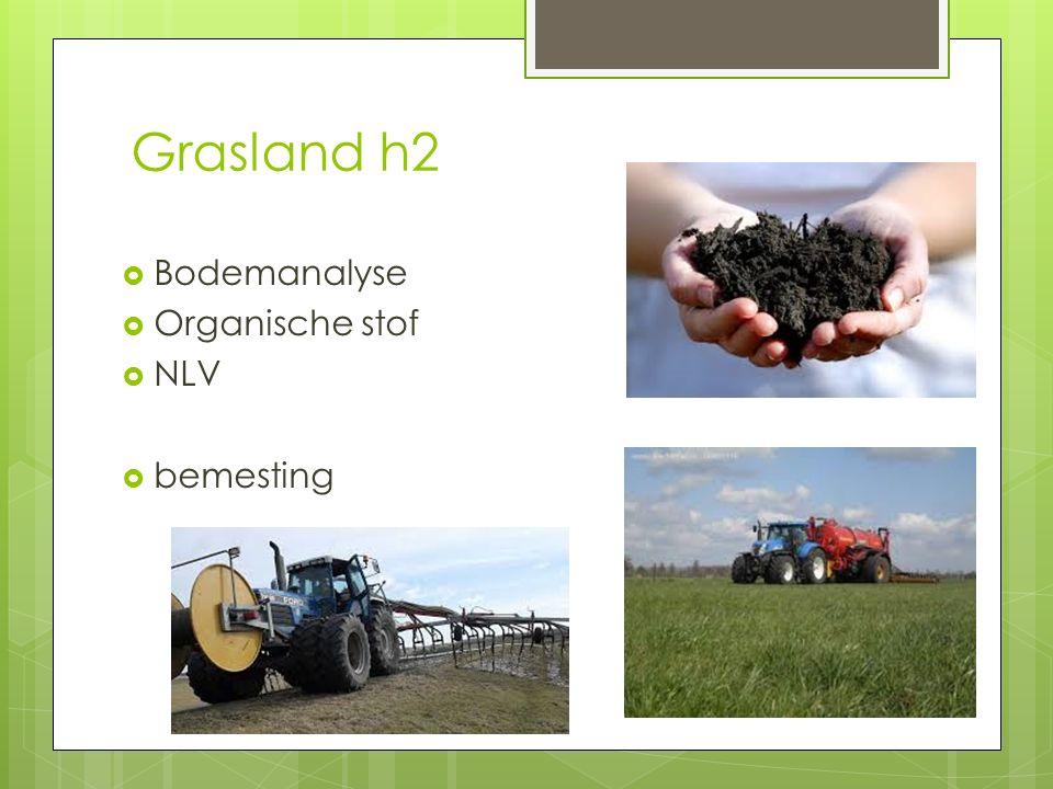 Grasland h2  Bodemanalyse  Organische stof  NLV  bemesting