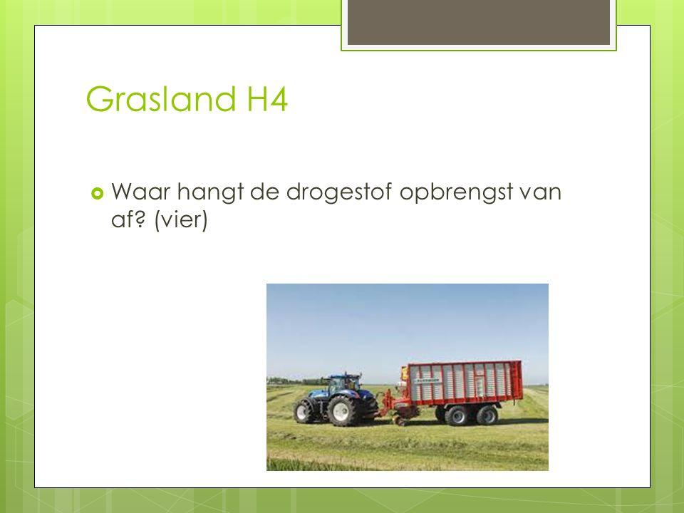 Grasland H4  Waar hangt de drogestof opbrengst van af? (vier)