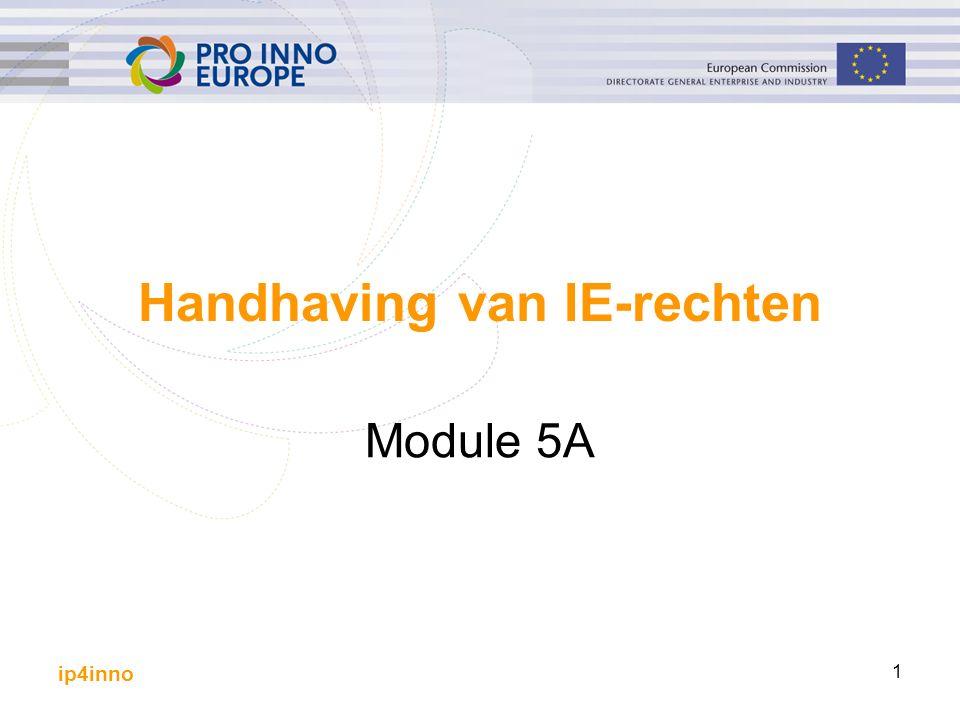 ip4inno 1 Handhaving van IE-rechten Module 5A