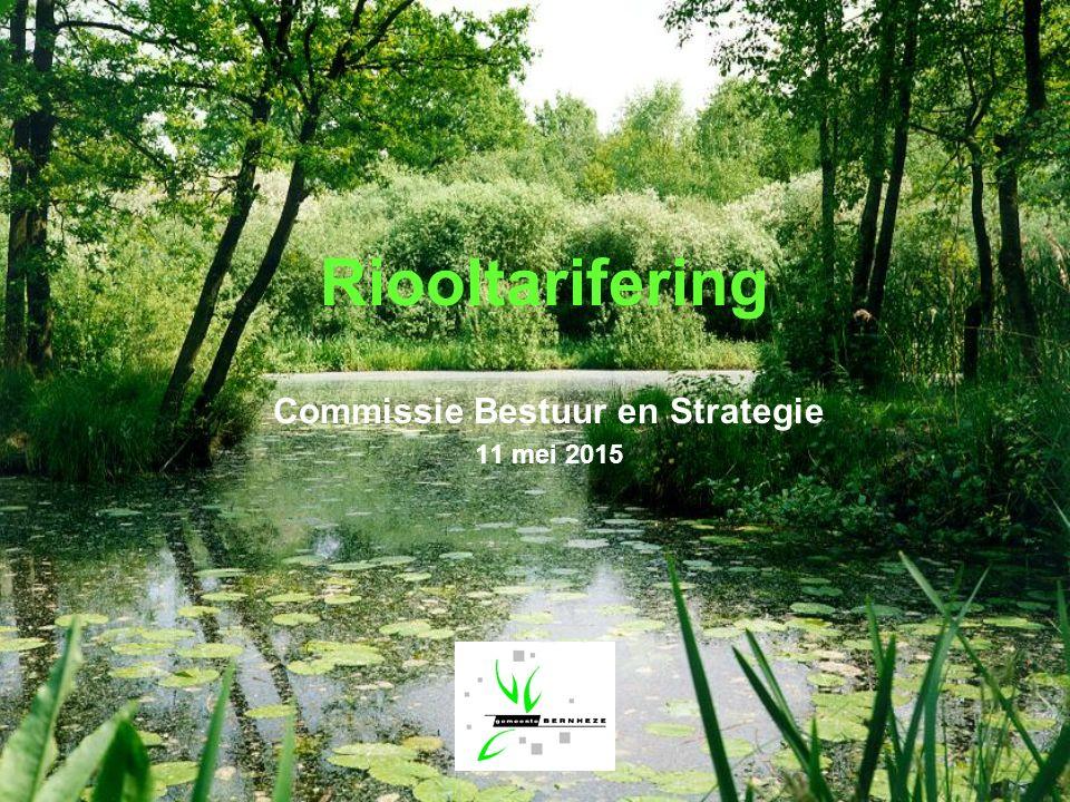 Riooltarifering Commissie Bestuur en Strategie 11 mei 2015