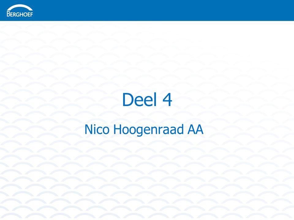 Deel 4 Nico Hoogenraad AA