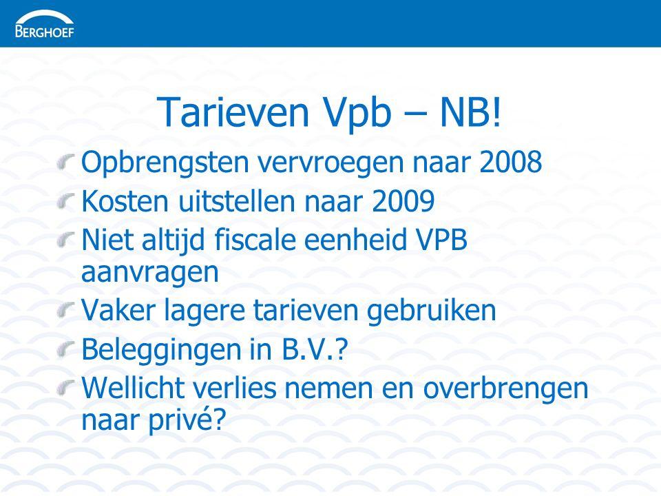 Tarieven Vpb – NB.