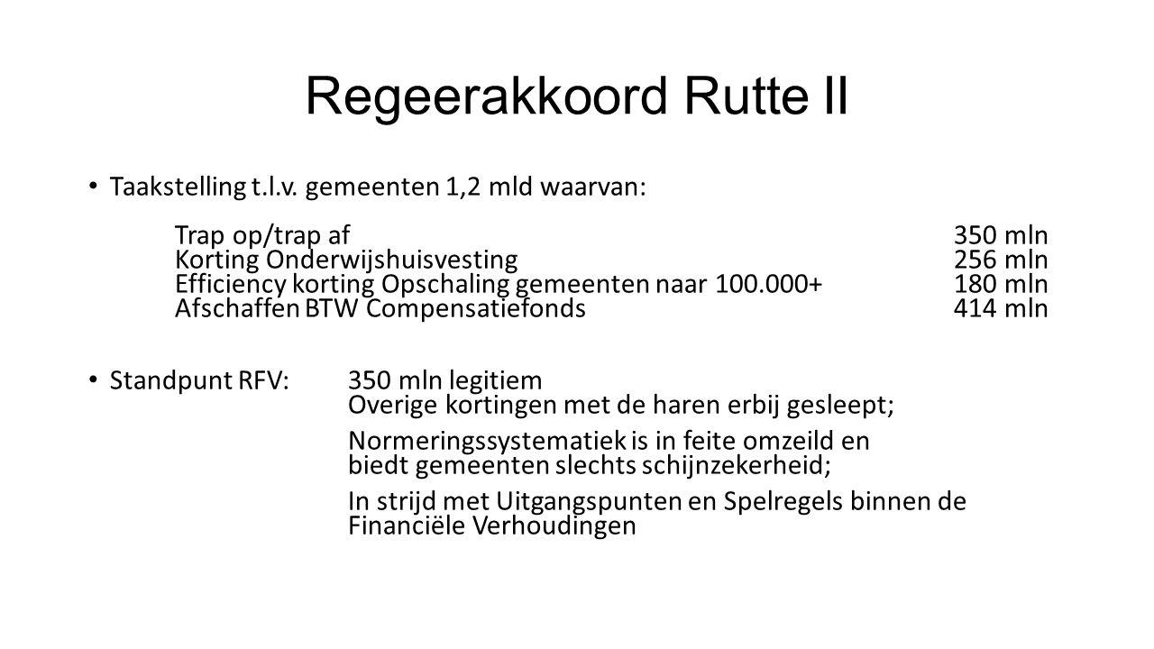 Regeerakkoord Rutte II Taakstelling t.l.v.