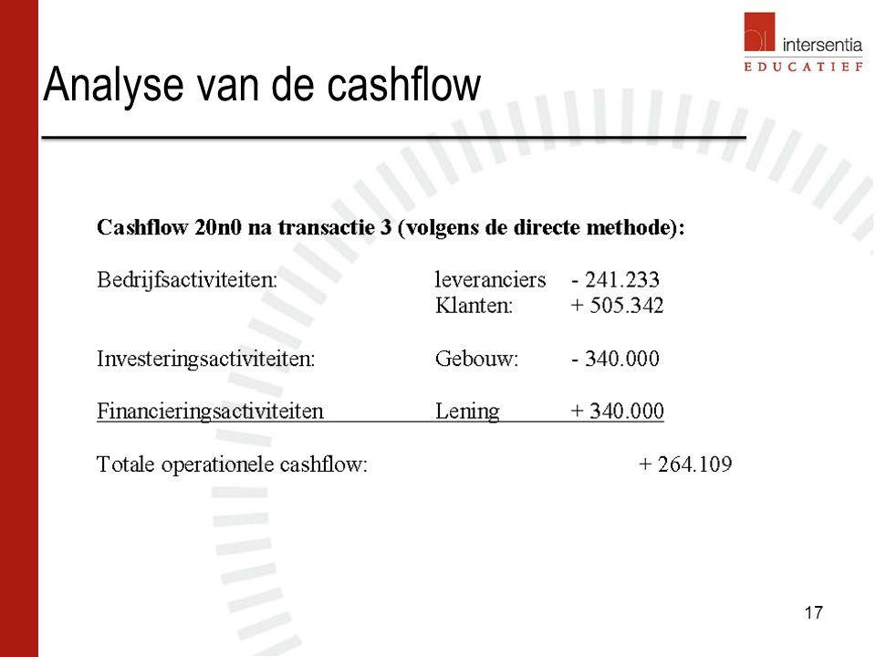 Analyse van de cashflow 17