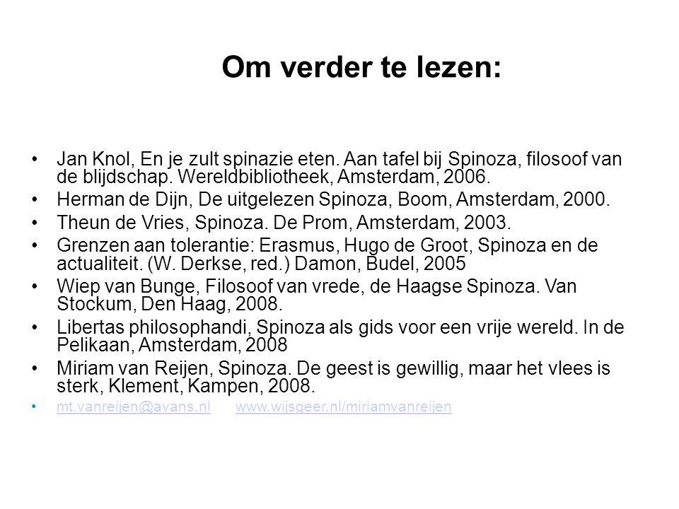 Om verder te lezen: Jan Knol, En je zult spinazie eten.