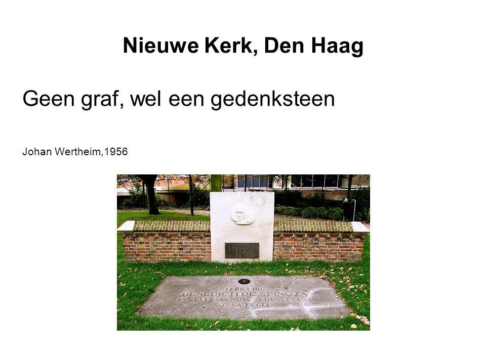 Nieuwe Kerk, Den Haag Geen graf, wel een gedenksteen Johan Wertheim,1956
