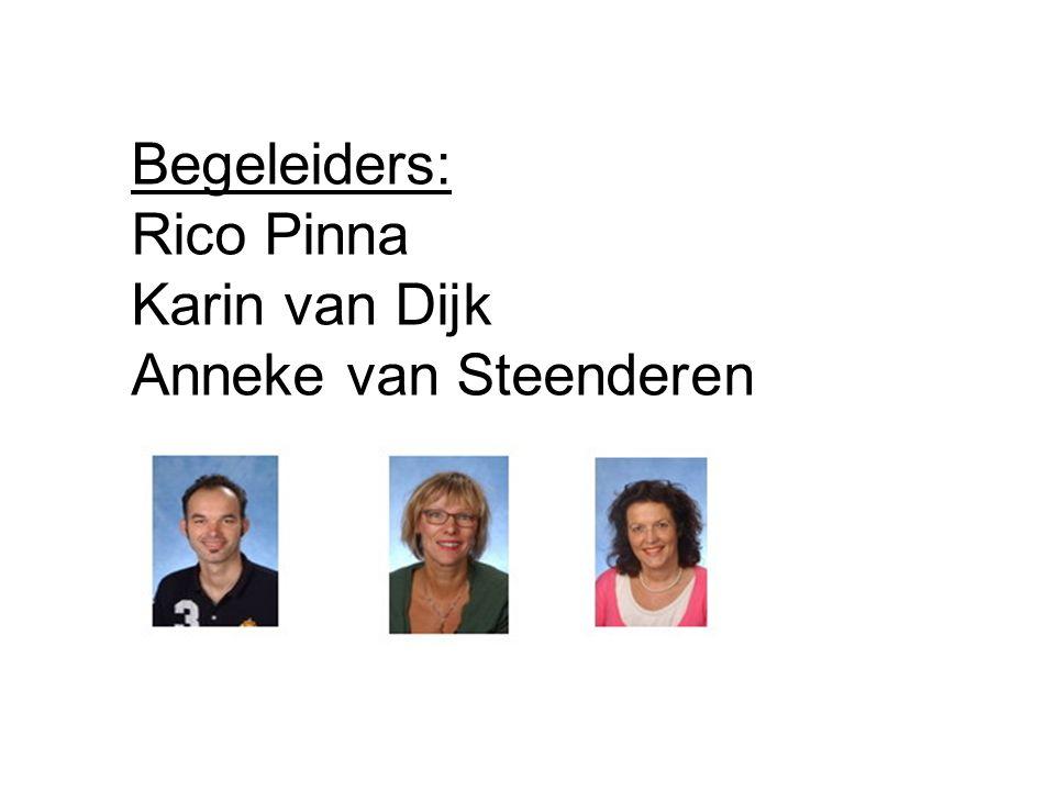 Begeleiders: Rico Pinna Karin van Dijk Anneke van Steenderen