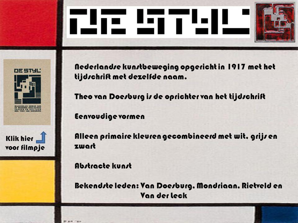 Nederlandse kunstbeweging opgericht in 1917 met het tijdschrift met dezelfde naam.