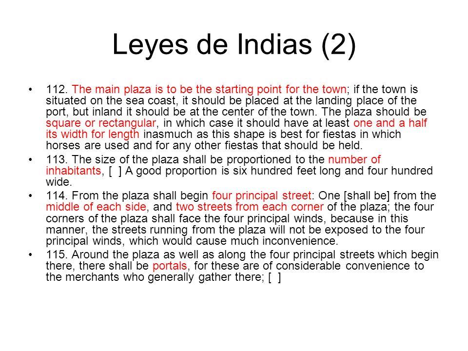 Leyes de Indias (2) 112.