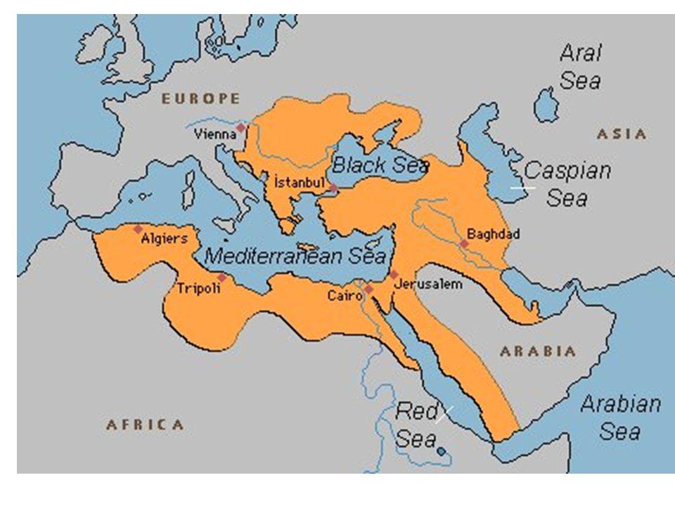 Migraties van centraal-Aziatische nomaden Seldsjoeken (11 e eeuw) –1055: verovering Bagdad –1071: slag bij Manzikert ( Byzantijnse rijk) –Seldsjoeken sultanaat van Rûm = Romeinen Ca.
