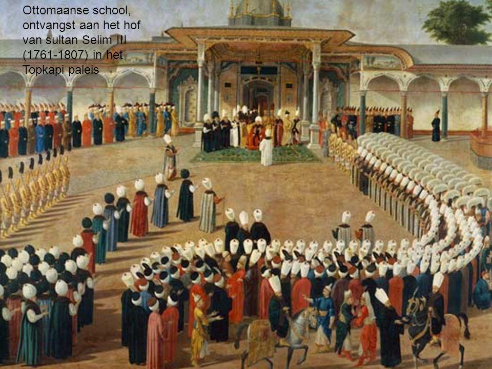 Ottomaanse school, ontvangst aan het hof van sultan Selim III (1761-1807) in het Topkapi paleis