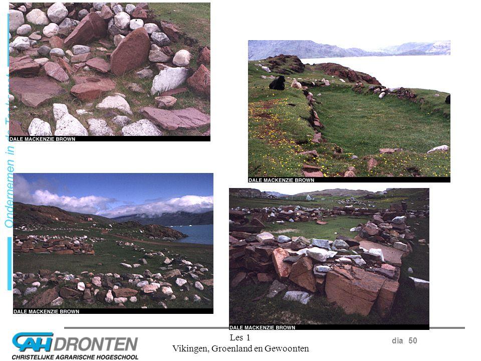 dia 50 Ondernemen in de Toekomst Les 1 Vikingen, Groenland en Gewoonten