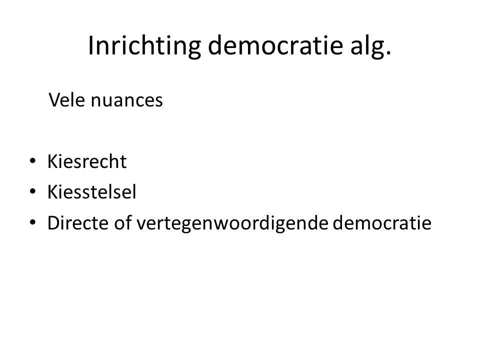 Inrichting democratie alg.