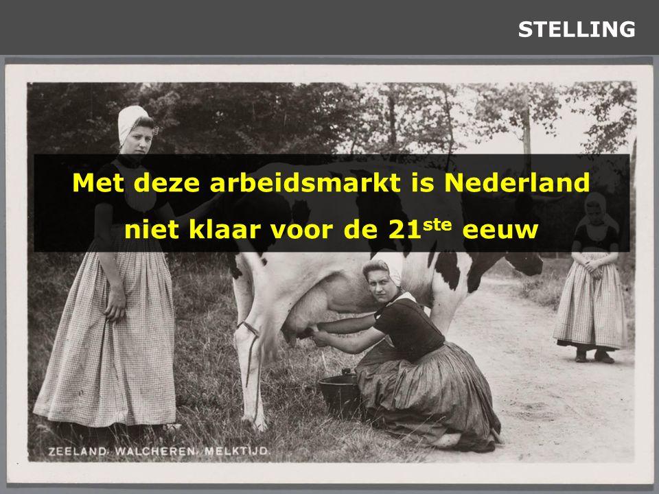 STELLING Met deze arbeidsmarkt is Nederland niet klaar voor de 21 ste eeuw