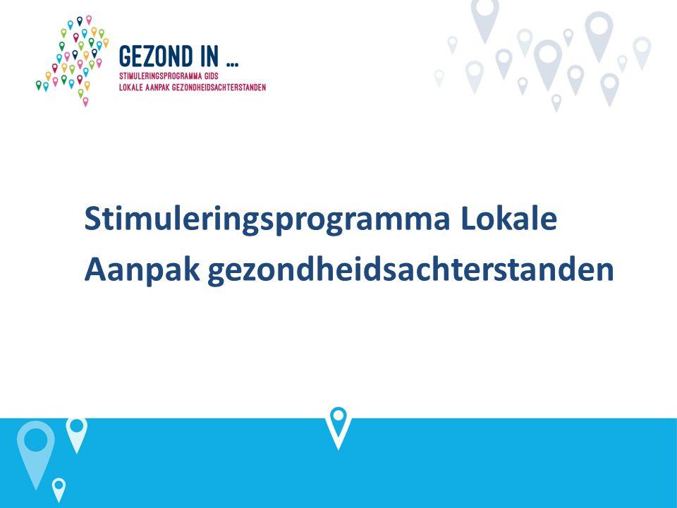 Stimuleringsprogramma Lokale Aanpak gezondheidsachterstanden