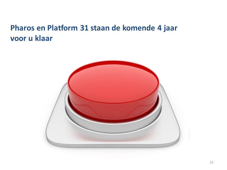 Pharos en Platform 31 staan de komende 4 jaar voor u klaar 22