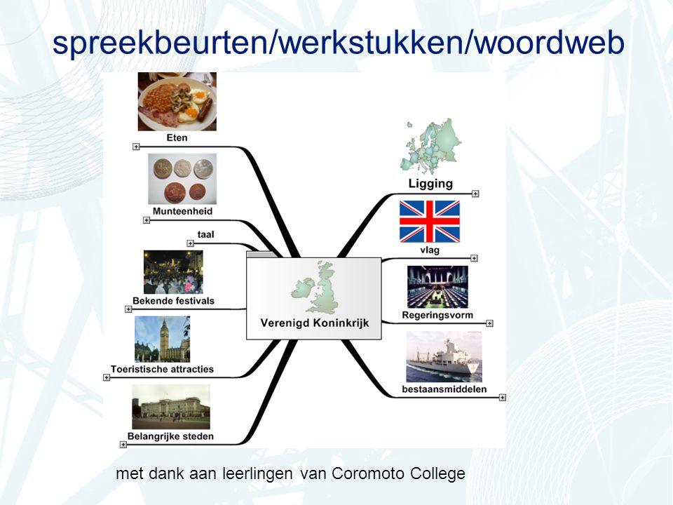 spreekbeurten/werkstukken/woordweb met dank aan leerlingen van Coromoto College