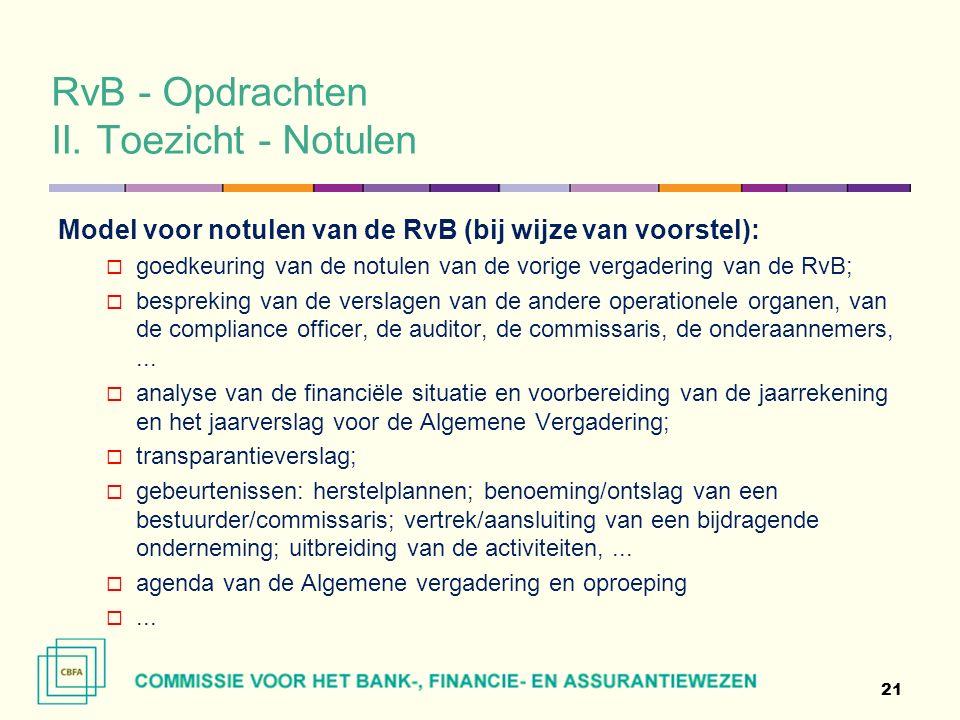 RvB - Opdrachten II.