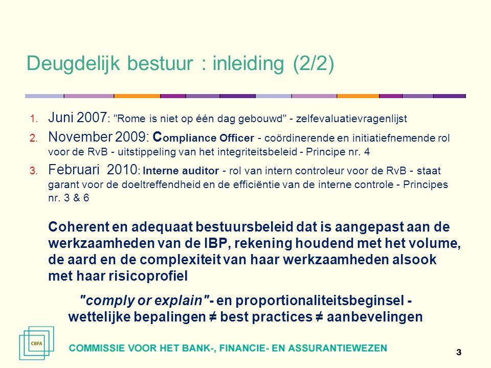 Deugdelijk bestuur : inleiding (2/2) 1.
