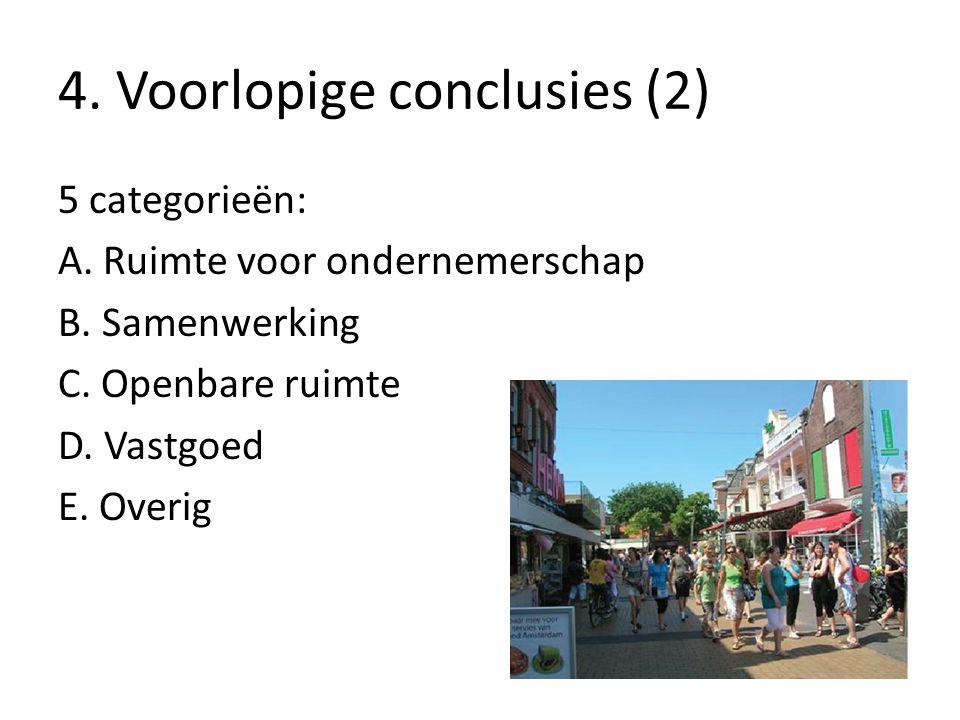 4. Voorlopige conclusies (2) 5 categorieën: A. Ruimte voor ondernemerschap B.