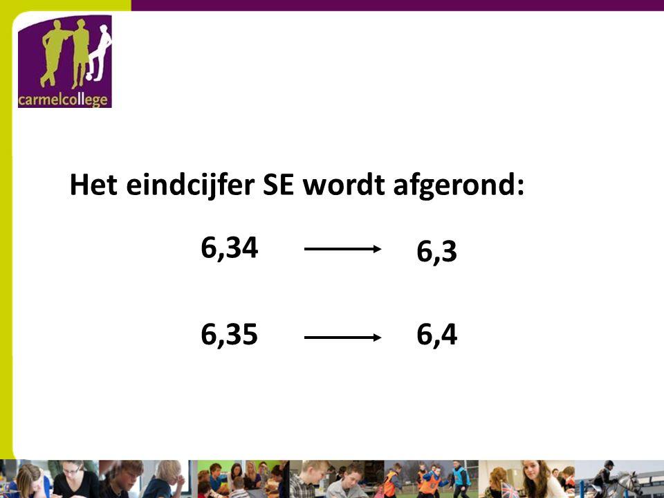 sn Het eindcijfer SE wordt afgerond: 6,34 6,3 6,356,4