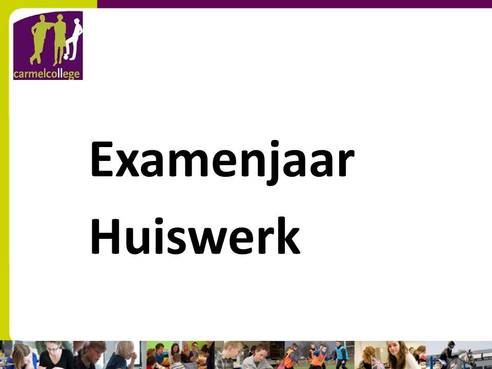 sn Examenjaar Huiswerk