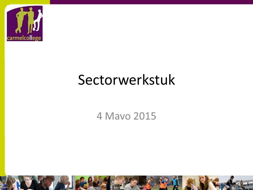 Sectorwerkstuk 4 Mavo 2015