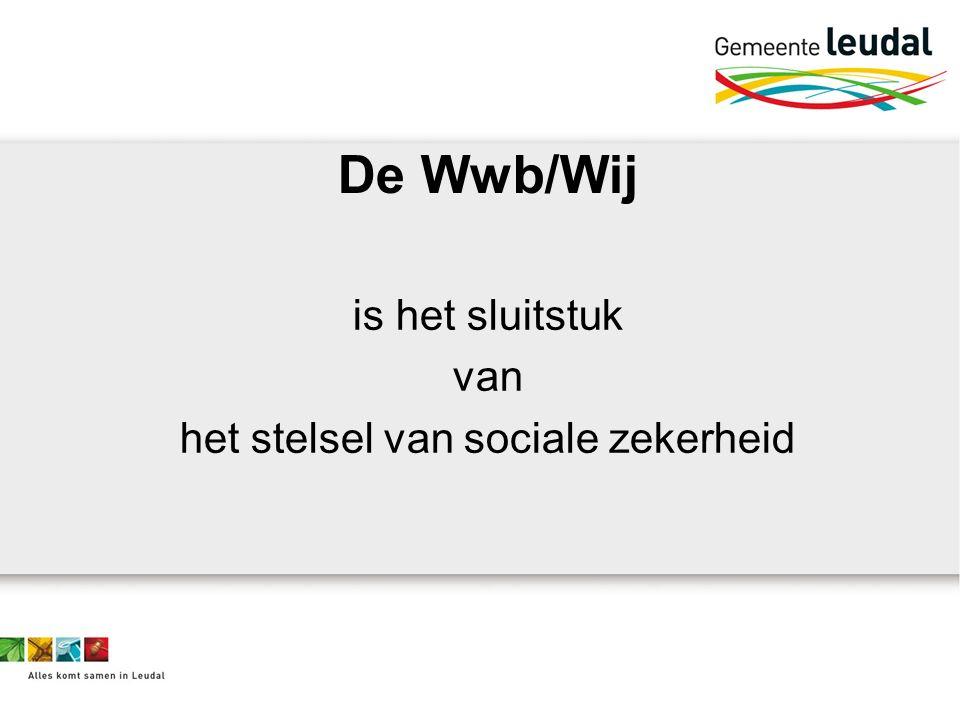 De Wwb/Wij is het sluitstuk van het stelsel van sociale zekerheid