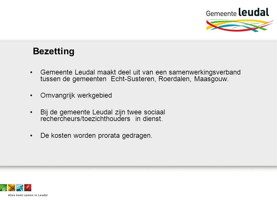 Bezetting Gemeente Leudal maakt deel uit van een samenwerkingsverband tussen de gemeenten Echt-Susteren, Roerdalen, Maasgouw.
