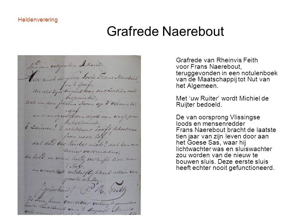 Heldenverering Grafrede Naerebout Grafrede van Rheinvis Feith voor Frans Naerebout, teruggevonden in een notulenboek van de Maatschappij tot Nut van h