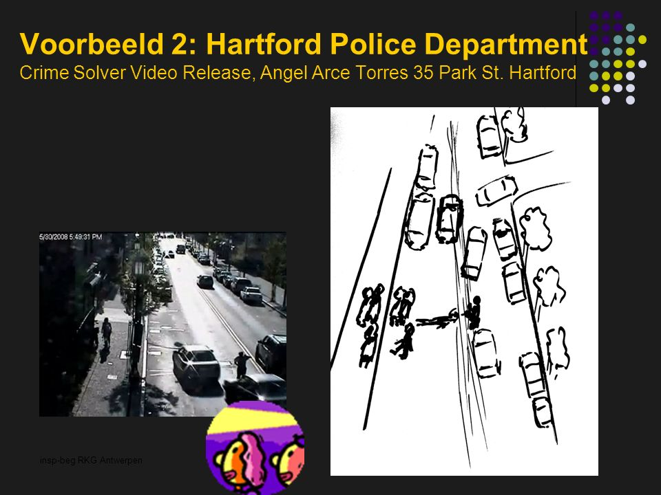 insp-beg RKG Antwerpen Voorbeeld 2: Hartford Police Department Crime Solver Video Release, Angel Arce Torres 35 Park St.